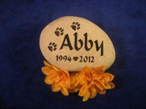 Abby Pet Memorial Stone