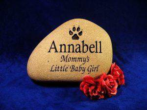 Custom Name Annabell Memorial Stone