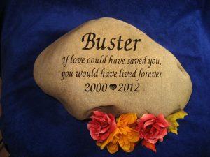 Custom Name Buster Memorial Stone
