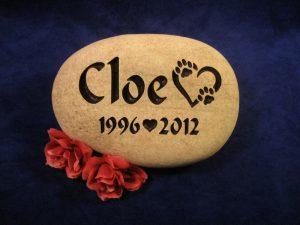 Custom Name Cloe Memorial Stone