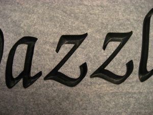 Custom Name Dazzle Memorial Stone