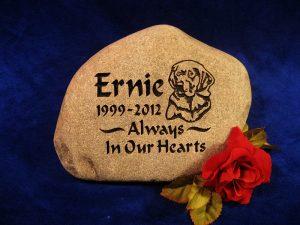 Pet Ernie Dog Memorial stone