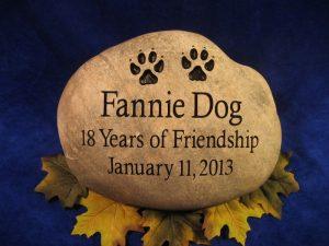 Pet Fannie Dog Memorial stone