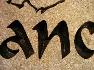 Pet Lance Memorial stone