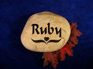Custom Ruby Name Memorial Stone