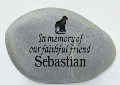 In Memory Cat Pet Memorial Stone