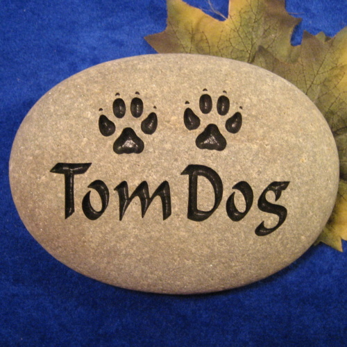 Custom Name Tom Dog Memorial Stone